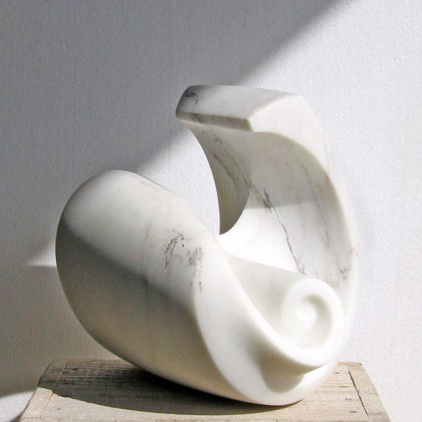 Lotte Thünker, Sculpture, Kapriole II, 2009, Carrara Marble, Germany